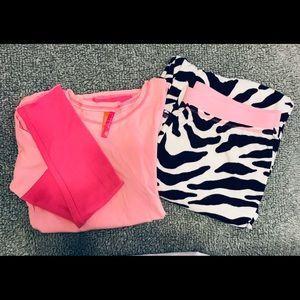 Pink, long sleeve pajamas